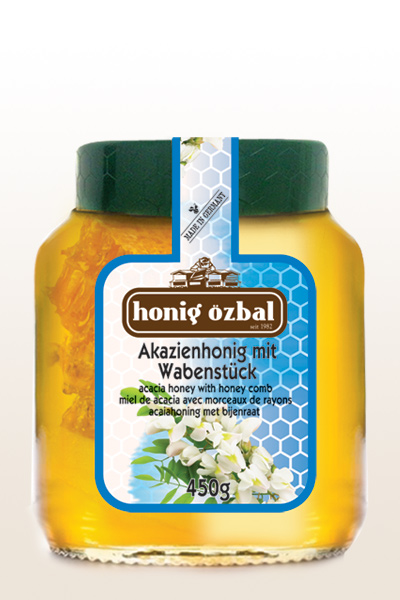 Acacia Honey with Comb 450g