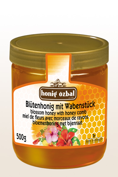 Blossom Honey with Comb 500g